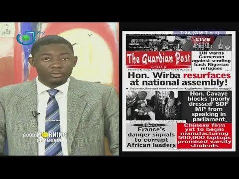 PRESS REVIEW - REVUE DE LA PRESSE - Thursday 22nd June 2017 - Peter NSOESIE & Narcisse MOTTO