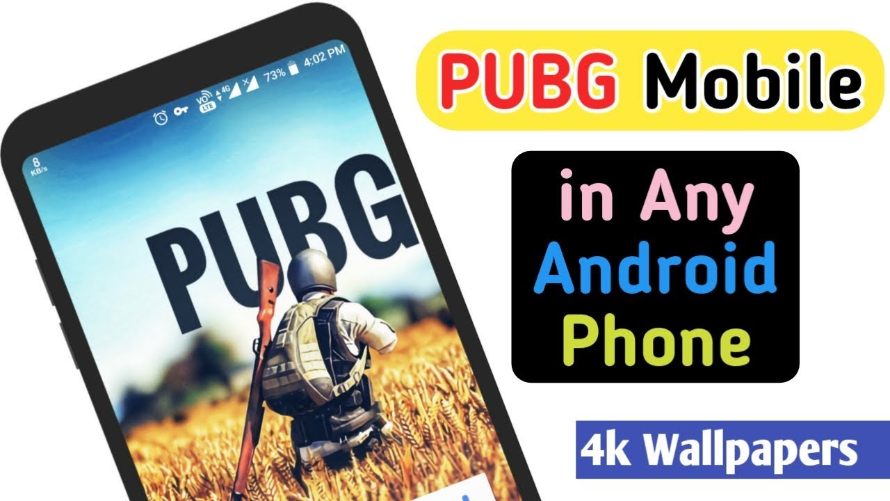 Pubg Mobile On Any Android Phone 4k Pubg Game Wallpapers App Youtube