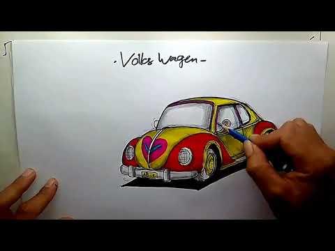 Menggambar Mobil Vw Kodok Youtube