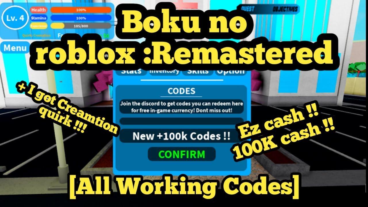 Boku No Roblox Codes New 100k