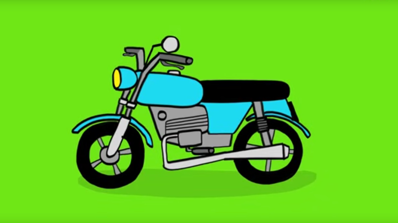 Apprendre dessiner une moto youtube - Dessin de moto facile a faire ...
