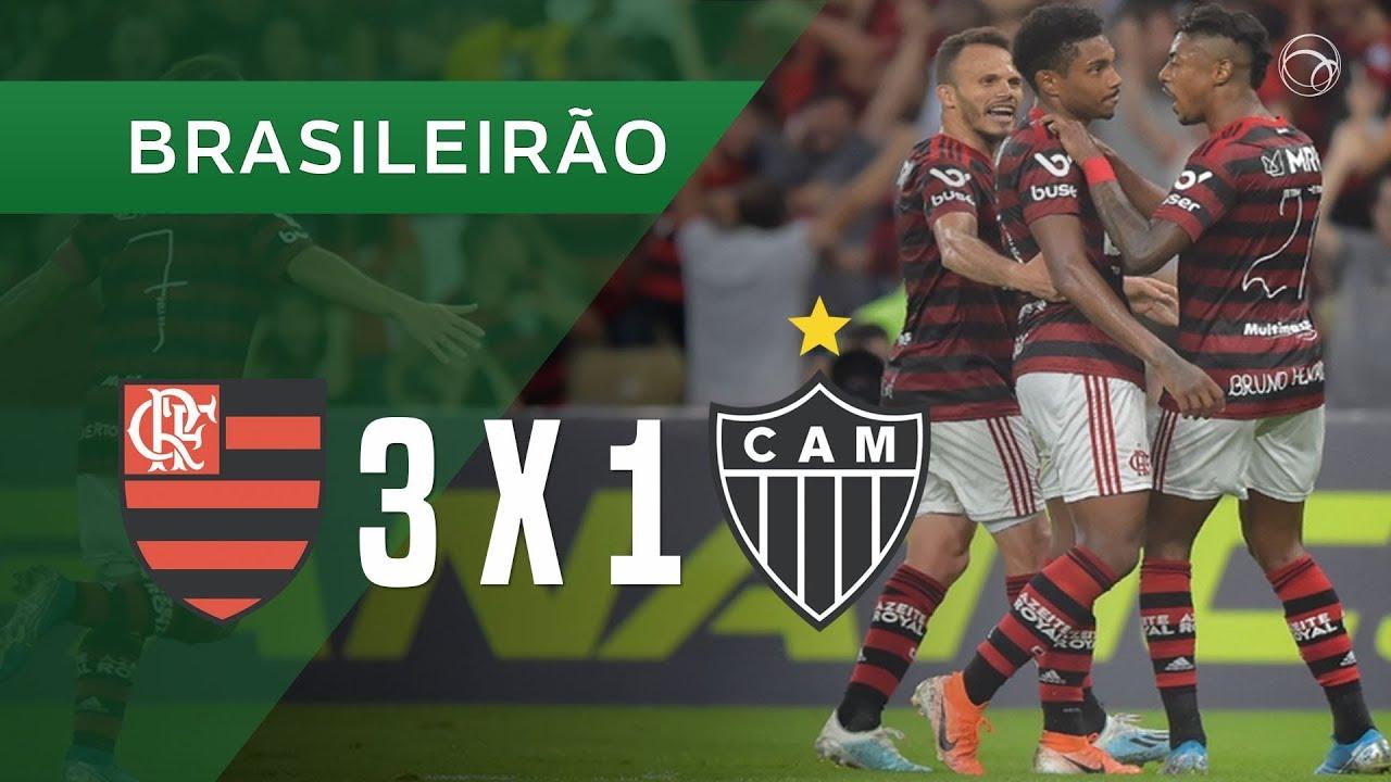 Flamengo 3 X 1 Atletico Mg Gols 10 10 Campeonato Brasileiro 2019 Youtube