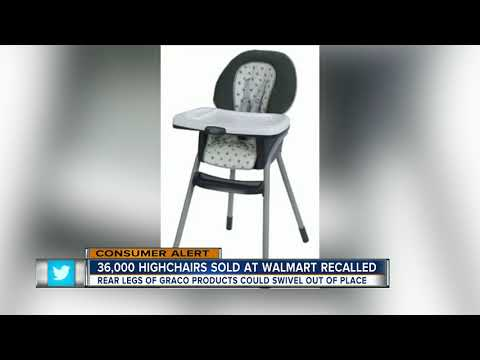 Graco highchairs recalled due to potential falling hazard, 5 children injured so far