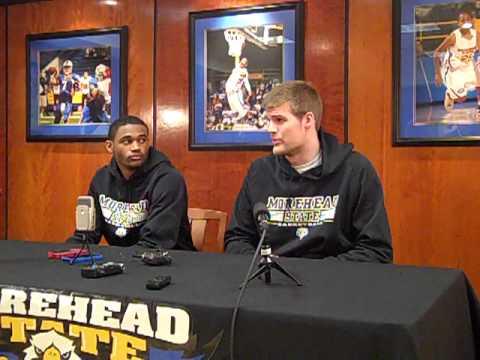 Drew Kelly and Milton Chavis at MSU Basketball Media Day