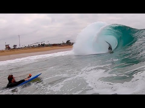 Bodyboarding CLEAN morning at The Wedge - October 2018