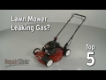 Top Reasons Lawn Mower Leaking Gas — Lawn Mower Troubleshooting