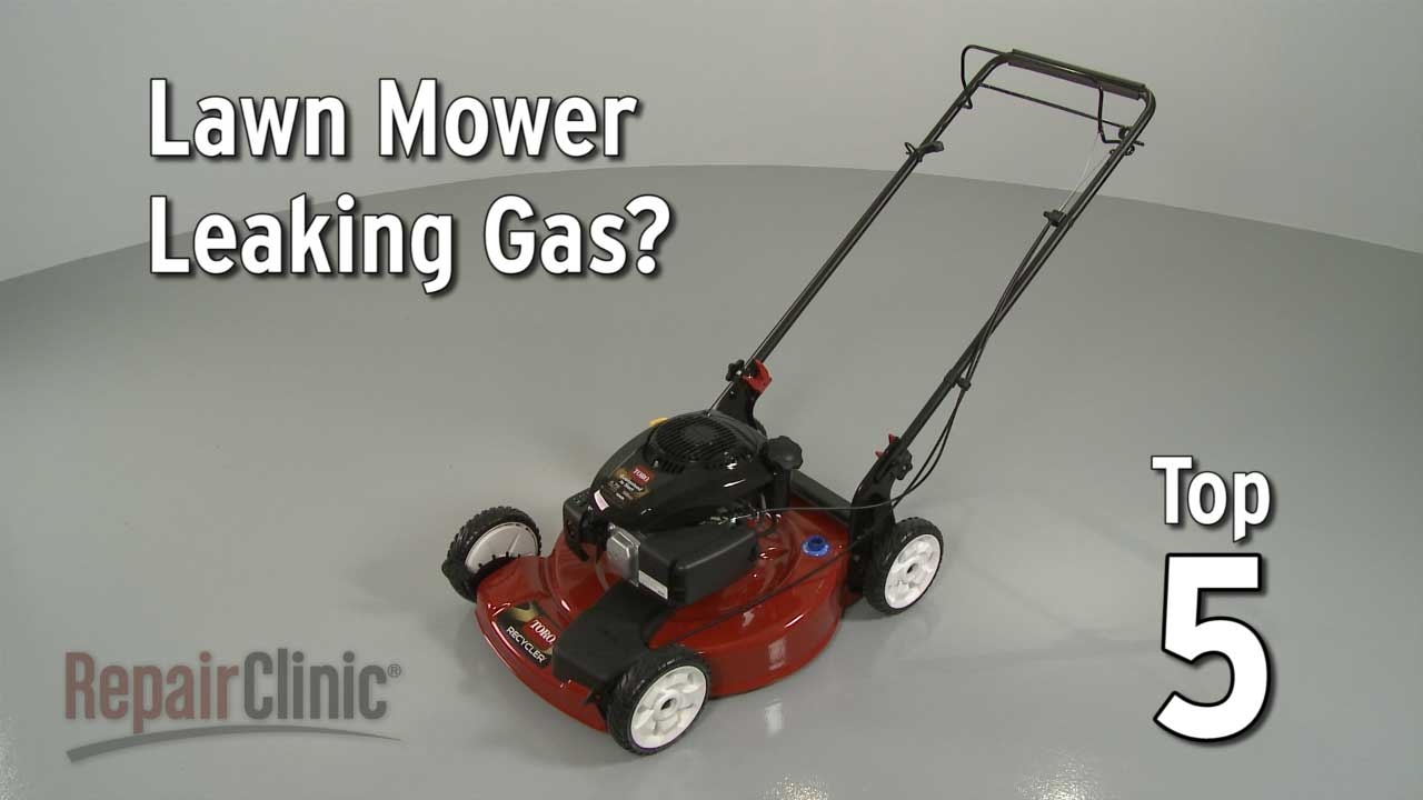 top reasons lawn mower leaking gas \u2014 lawn mower troubleshooting Weed Eater Mulching Mower