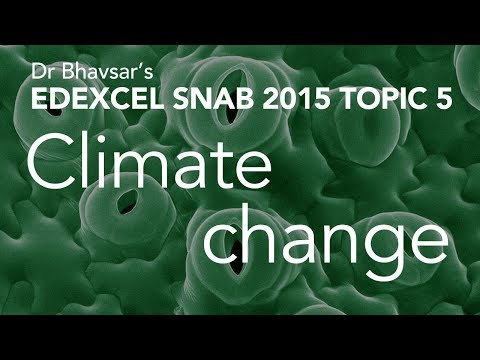 Climate change (topic 5) for Edexcel (SNAB) A level Biology