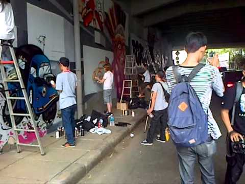 art on the street sudirman jakarta with pillox