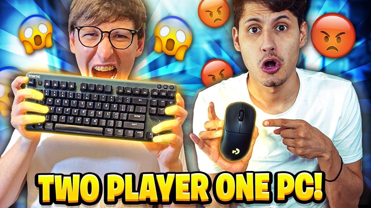 TWO PLAYERS one PC con ZANESG!! SFIDA ASSURDA su Fortnite