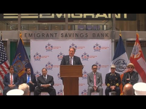 FDNY's 150th anniversary is celebrated at Emigrant Savings Bank headquarters