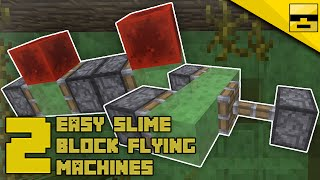 HOW TO MAKE SLIME BLOCK FLYING MACHINES   Minecraft Tutorial
