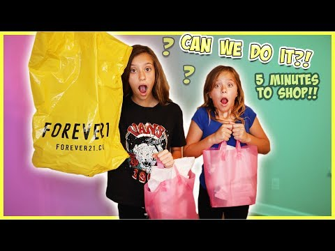 5 MINUTE SHOPPING CHALLENGE AT THE MALL!! SCAVENGER HUNT FOR THE PERFECT DRESS