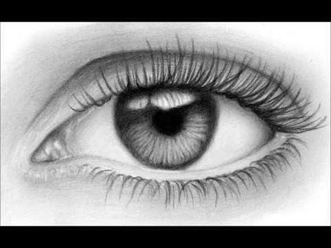 Como dibujar un ojo realista ( Fácil ) - YouTube