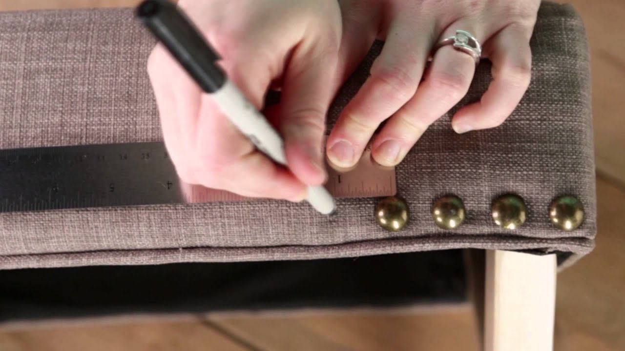 Making An Upholstered Headboard With Nailhead Trim Diy Nailhead Trim