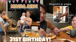 Mama Andi 31st Birthday Kakaiba ang Ginawa niya   Nagluto ng Steak si Philmar para sa Buong pamilya