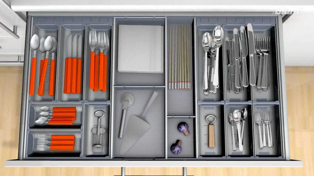 Blum Orga Line Cutlery Insert For Wider Drawers Youtube