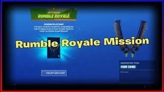 Unlocking the fang saws pick axes in fortnite   Rumble royale mission