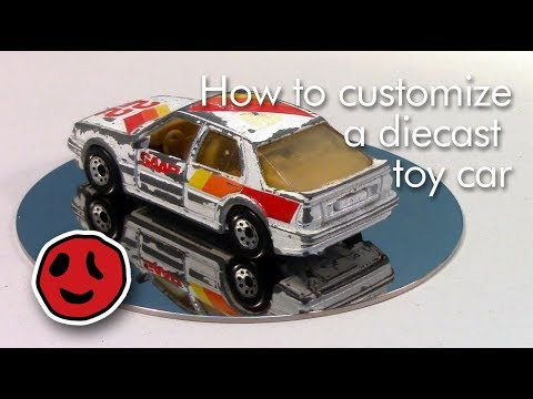How to customize a diecast toy car