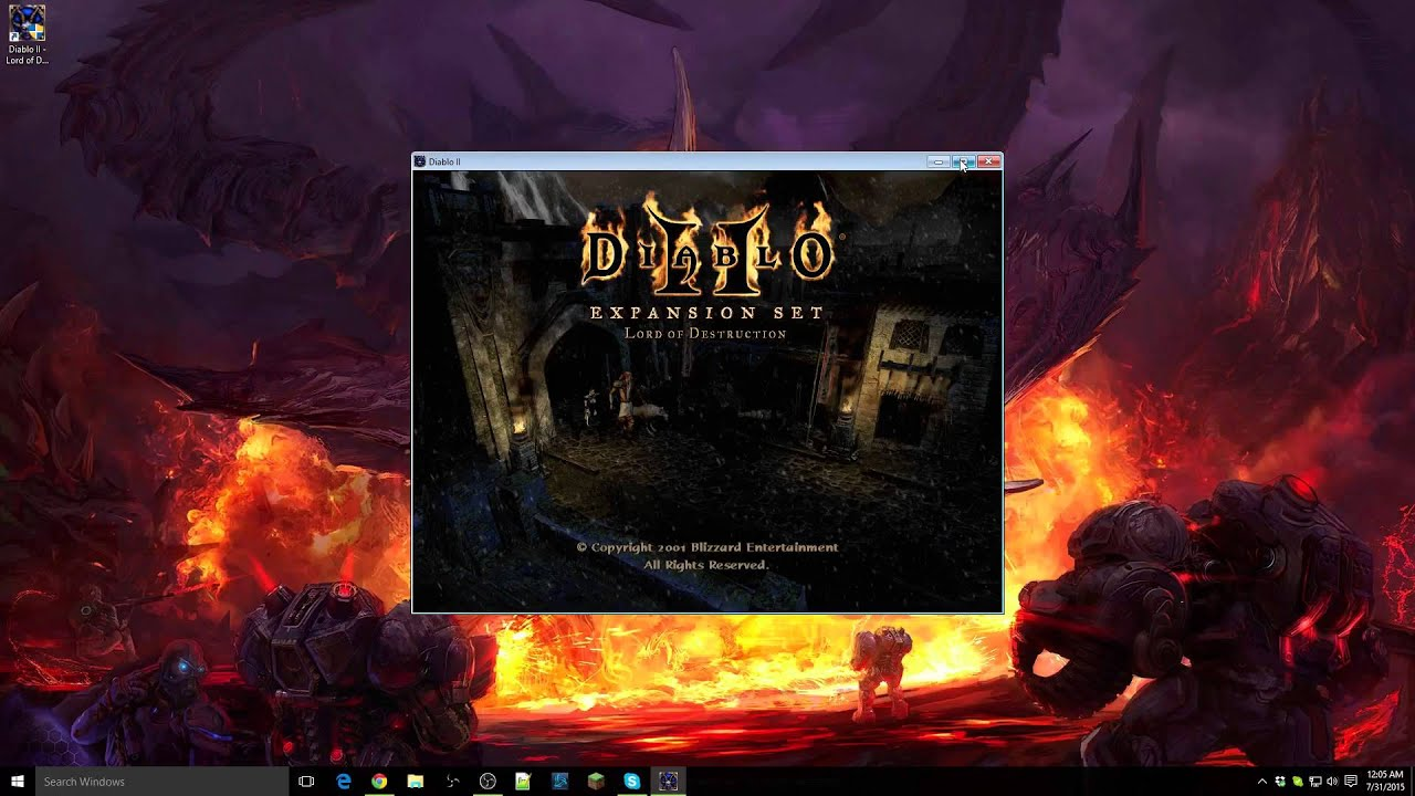 How to play Diablo II LoD on Windows 10 (Windowed Fullscreen)