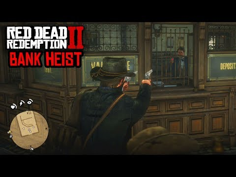 ROBBING THE BANK IN RED DEAD REDEMPTION 2 - EPIC BANK HEIST GAMEPLAY