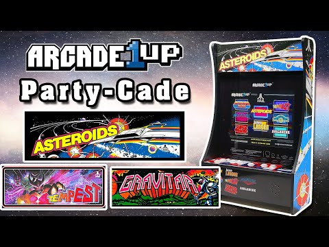 Arcade1up PARTY-CADE - 8 in 1 Review, Asteroids, Tempest, Gravitar, Warlords from Steve's Real World