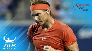 Nadal sets up final against Tsitsipas | Rogers Cup 2018 Highlights Day 6
