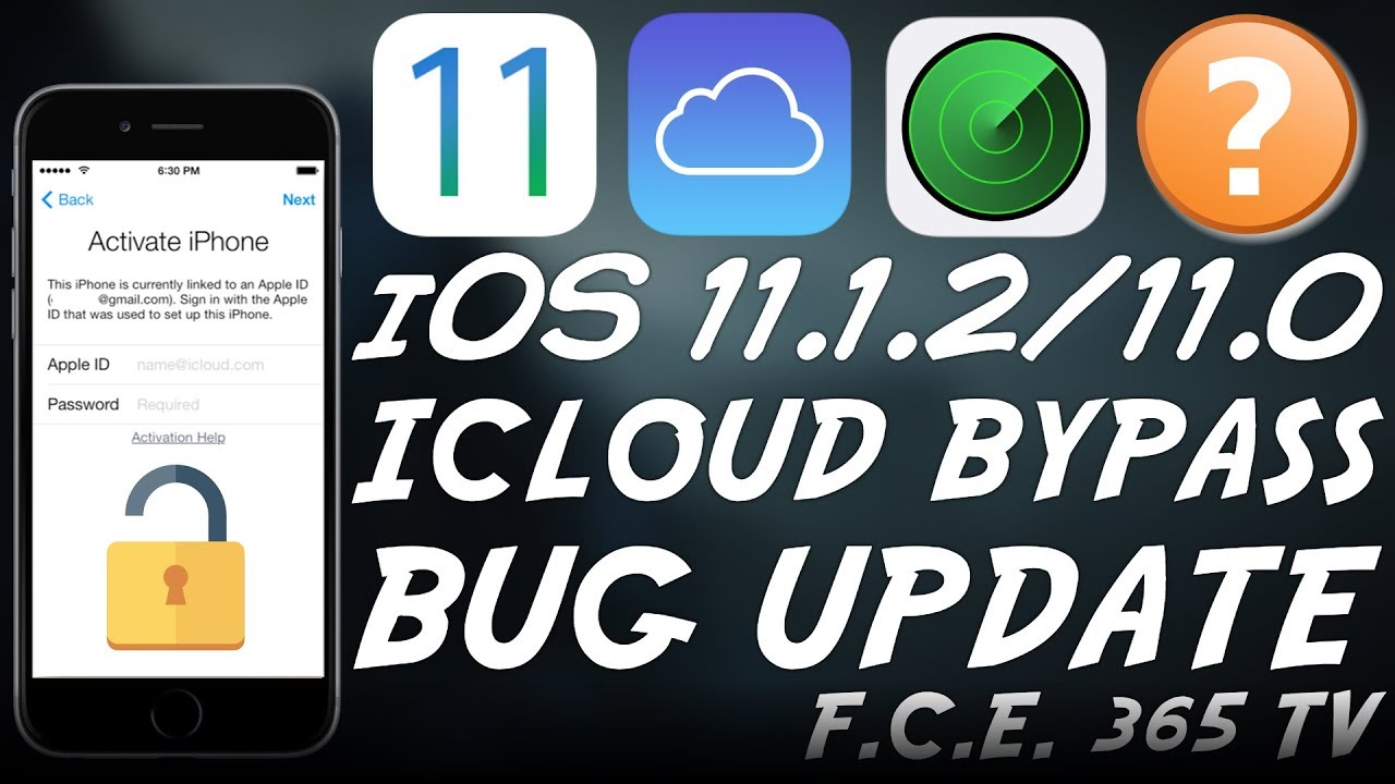 iOS 11 1 2/11 0 iCloud Bypass Using the Passcode BUG IMPORTANT UPDATE!