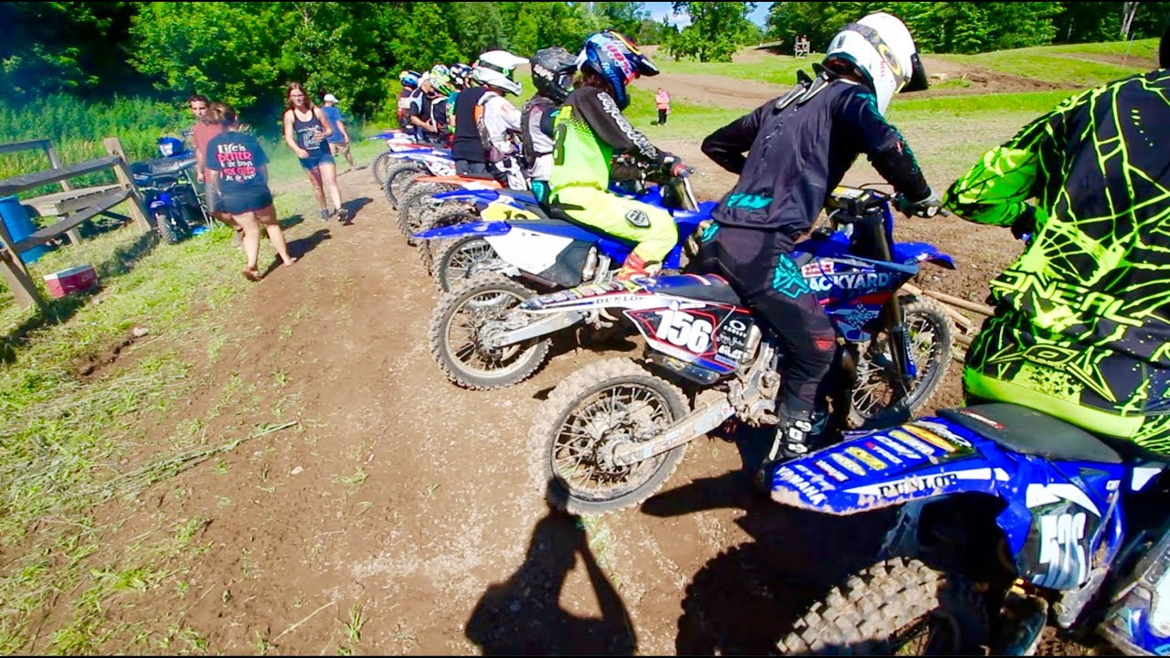 CRAZY 125cc Dirt Bike Race RAW