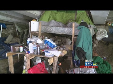 Homeless eviction