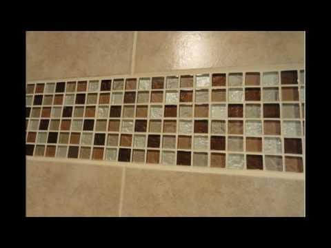 Bathroom glass mosaic tile designs