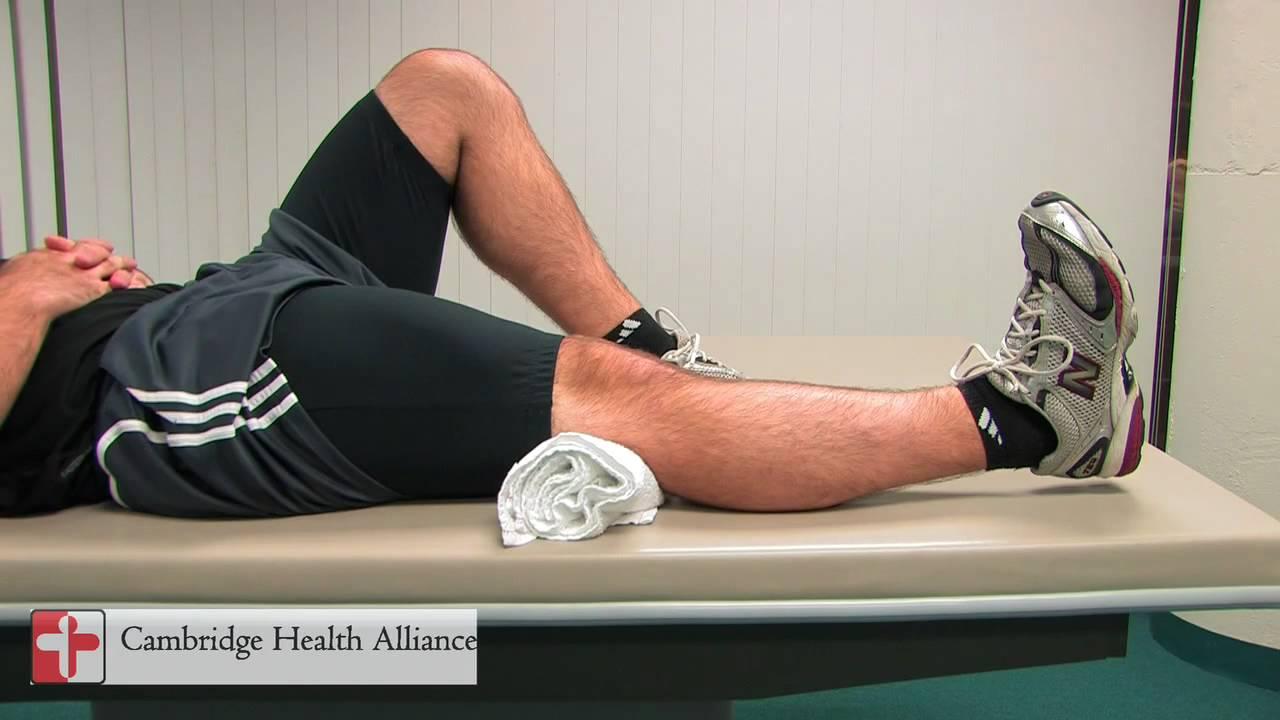 CHA Rehab - Quadriceps Sets - YouTube