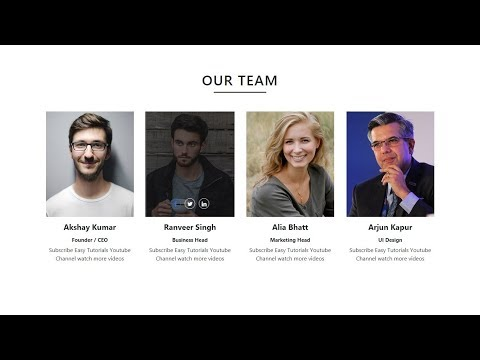 How To Make Website Team Member Section Using HTML CSS And Bootstrap