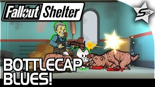 BOTTLECAP BLUES QUEST, Too Much Loot! - Fallout Shelter Gameplay Part 5 PC