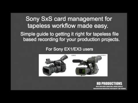 sony ex1 ex3 sxs card camera training video guide manual youtube rh youtube com Sony TV Service Manuals Sony M 80 Manual