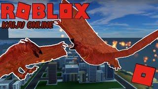 Roblox Kaiju Online - The Fire Demon Rodan! + New Map! (Titanus Rodan Update!)