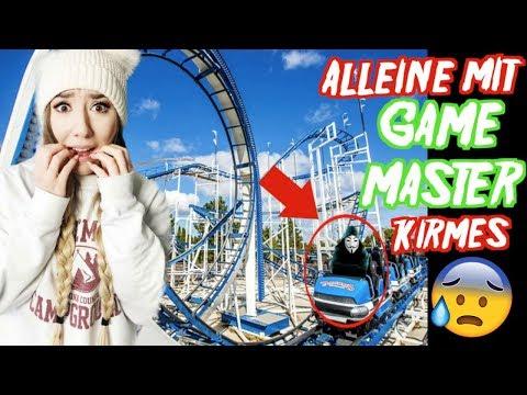 ALLEINE in ACHTERBAHN und RIESENRAD GESCHICKT vom GAME MASTER (1 TAG Challenge)