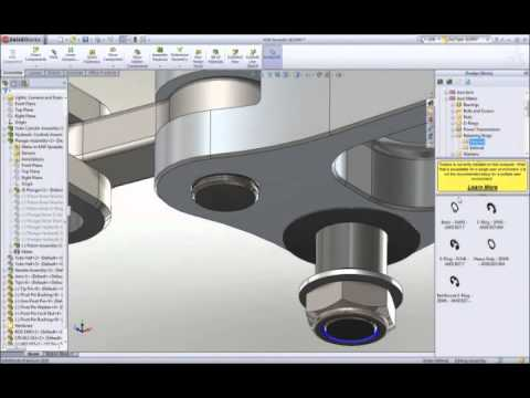 Solidworks 3d design cad software first look youtube for Software cad 3d
