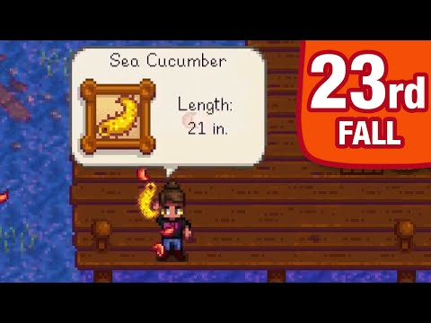 Let's Play Stardew Valley - 23th of Fall, Year 1 - Sea Cucumber