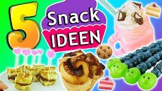 5 einfache & schnelle REZEPTE für süße SNACK Ideen | Kinder Party oder Mädelsabend | DIY Inspiration