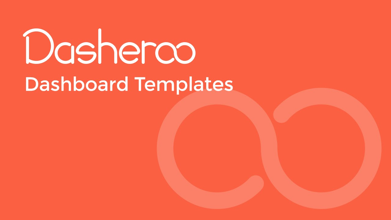 Dashboard templates with dasheroo business dashboards youtube accmission Choice Image