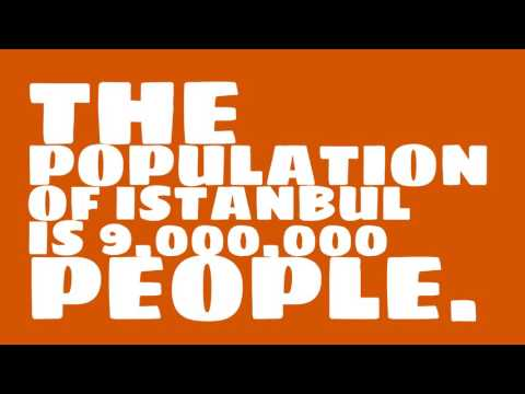 What is the population density of Istanbul?