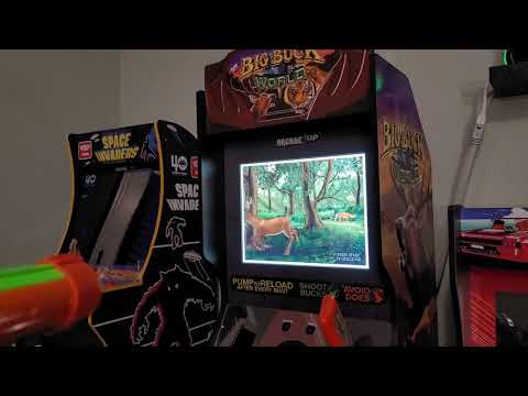 Big Buck World (Hunter) from Arcade1Up setup and first play from TechnoBilly