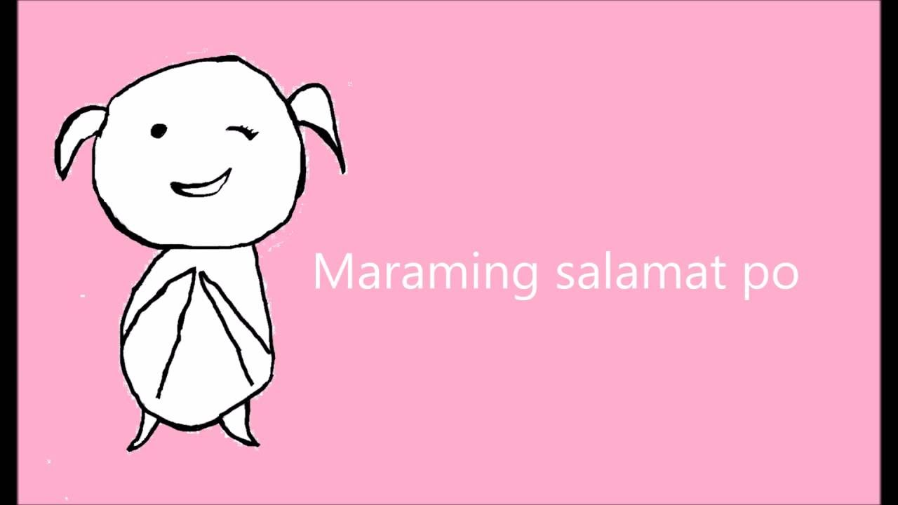 how to say thank you in tagalog filipicano