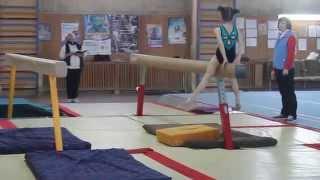 Спортивна гімнастика, 2 юнацький розряд Лещак Аня 2007 р.н. (колода)