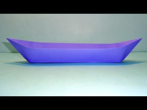 How to Make a Paper Canoe - Paper Boat Making Origami Tutorial for Kids