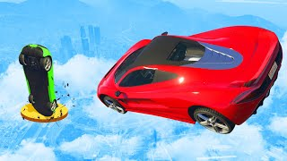 NO ONE CAN LAND The Impossible Jump! - GTA 5 Funny Moments