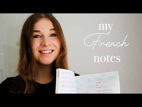 How I take my French notes. Tips for studying French + my French learning journey explained