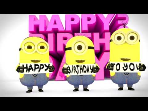 give minions happy birthday greetings video