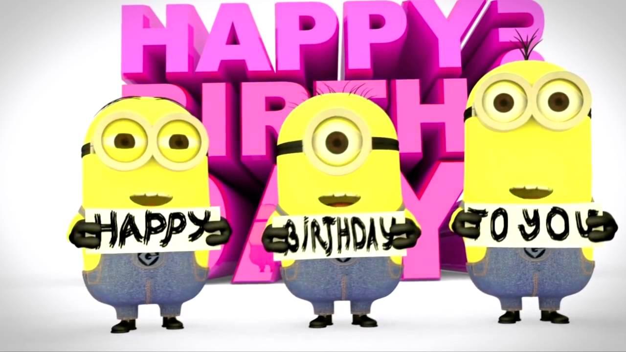 Minions Happy Birthday Video Gift Youtube
